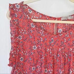 Dalia XL Women's Blouse Orange Floral